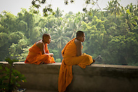 Luang Prabang, the former royal capital is situated on a peninsula formed by the Mekong River and the Nam Khan or Khan River and is surrounded by limestone hills. Legend says that Buddha smiled when he rested here for a day during his travels, prophesying that it would one day be the site of a rich and powerful capital city.