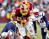 Washington Redskins running back Roy Helu (29) carries the ball in the fourth quarter against the New England Patriots at FedEx Field in Landover, Maryland on Sunday December 11, 2011.  The Patriots won the game 34 - 27..Credit: Ron Sachs / CNP.(RESTRICTION: NO New York or New Jersey Newspapers or newspapers within a 75 mile radius of New York City)