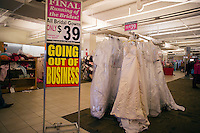 Liquidation sale at the Filene's Basement store on Union Square in New York on Saturday, December 24, 2011. Filene's Basement and its parent company Syms Corp. are under bankruptcy protection and are liquidating all their stock as the businesses are shut down. The 25 Syms and the 21 Filene's Basement stores are set to close the end of December.  (© Richard B. Levine)