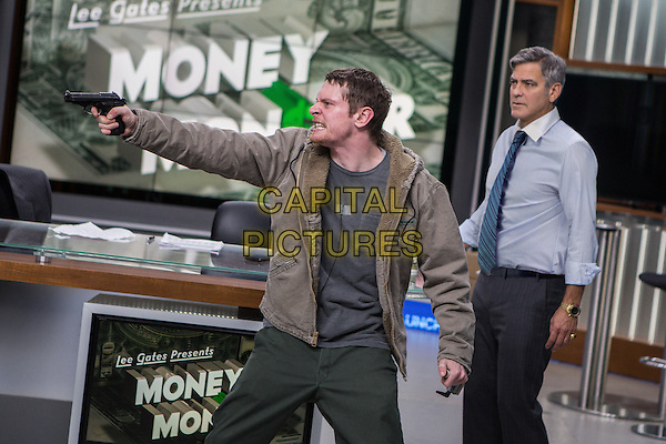 Money Monster (2016) <br /> Jack O'Connell, George Clooney  <br /> *Filmstill - Editorial Use Only*<br /> CAP/KFS<br /> Image supplied by Capital Pictures