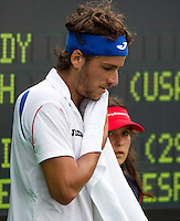 Feliciano LOPEZ (ESP) against Mardy FISH (USA) in the third round of the men's singles. Mardy Fish beat Feliciano Lopez 7-5 6-3..International Tennis - 2010 ATP World Tour - Sony Ericsson Open - Crandon Park Tennis Center - Key Biscayne - Miami - Florida - USA - Mon 29th Mar 2010..© Frey - Amn Images, Level 1, Barry House, 20-22 Worple Road, London, SW19 4DH, UK .Tel - +44 20 8947 0100.Fax -+44 20 8947 0117