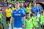 Alashkert FC v St Johnstone...02.07.15   Republican Stadium, Yerevan, Armenia....UEFA Europa League Qualifier.<br /> David Wotherspoon leads saints out as captain wearing black armbands in memory of Billy and Lisa Graham<br /> Picture by Graeme Hart.<br /> Copyright Perthshire Picture Agency<br /> Tel: 01738 623350  Mobile: 07990 594431