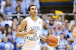 18 January 2014: North Carolina's Marcus Paige. The University of North Carolina Tar Heels played the Boston College Eagles in an NCAA Division I Men's basketball game at the Dean E. Smith Center in Chapel Hill, North Carolina. UNC won the game 82-71.