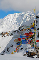 Bhutan - prayer flags in the mountains