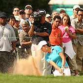 January 13, 2005; Honolulu, HI, USA;  15 year old amateur Michelle Wie hits out of a sand trap on the 8th hole during the 1st round of the PGA Sony Open golf tournament held at Waialae Country Club.  Wie shot a 5 over par 75 for the day.<br />
