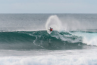 Bells Beach, Torquay Victoria, Australia. (Sunday April 20, 2014) Adriano de Souza (BRA)  –  The 2014  Rip Curl Pro at Bells Beach continued today with the completion of men's Round 2 and Round 2 and Round 3 of the women's event. The surf was in the 4'-6' range for most of the day with light offshore winds and clear skies.  .Photo: joliphotos.com
