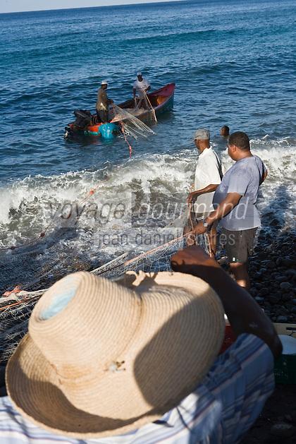 France/DOM/Martinique/ Bellefontaine: Pêche à la senne