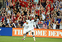 Jozy Altidore USMNT celebrates his goal...USA defeated Guadeloupe 1-0 in Gold Cup play at LIVESTRONG Sporting Park, Kansas City, Kansas.
