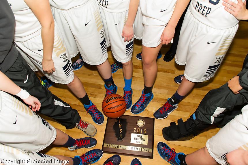 2014-2015 ICCP Girls Basketball - Sectional Final Champs vs CTK