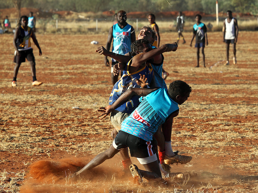 Australian Rules played in the Central desert community of Yuendumu. Desert Football is an important part of life and a real common strength of most communites.Inter-community Competition is fierce and has become a breeding ground of future AFL stars.