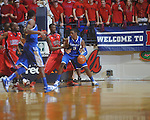 Kentucky's Terrence Jones (3)  dribbles against Ole Miss forward Terrance Henry (1) at the C.M. &quot;Tad&quot; Smith Coliseum in Oxford, Miss. on Tuesday, February 1, 2011. Ole Miss won 71-69.