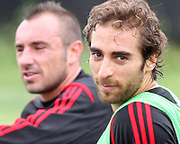 Andrea Pirla of AC Milan during a practice session at RFK practice facility in Washington DC on May 24 2010.