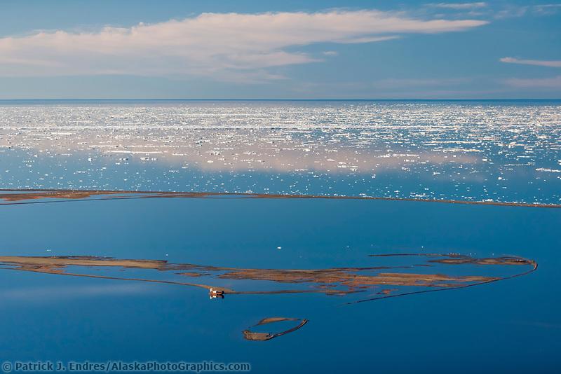 Barter Island in the Beaufort Sea, Arctic Alaska
