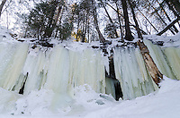 The beautiful pillars of ice that make up the Eben Ice Caves. Eben Junction, MI