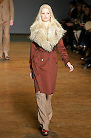 Daphne Groeneveld walks runway in an outfit from the Marc by Marc Jacobs Fall/Winter 2011 collection, during New York Fashion Week, Fall 2011.