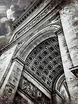 Clouds above the Arc de Triomphe in Paris.