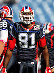 11 October 2009: Buffalo Bills' wide receiver Terrell Owens warms up prior to facing the Cleveland Browns at Ralph Wilson Stadium in Orchard Park, New York. The Browns defeated the Bills 6-3 for Cleveland's first win of the season...Mandatory Photo Credit: Ed Wolfstein Photo