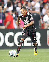 Andy Najar #14 of D.C. United during an MLS match against Real Salt Lake at RFK Stadium, on June 5 2010 in Washington DC. The game ended in a 0-0 tie.