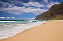 Polihale Beach Park, looking towards the Na Pali Coast; Kauai, Hawaii.