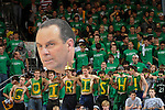 The Notre Dame student section cheers in the first half.