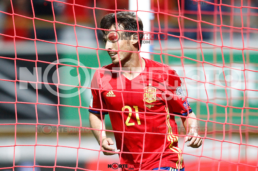 Spain's David Silva celebrates goal during FIFA World Cup 2018 Qualifying Round match. September 5,2016.(ALTERPHOTOS/Acero) /NORTEPHOTO