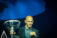 "GOLD COAST, Queensland/Australia (Friday, February 24, 2012) Kelly Slater (USA)  x 11 World Champion. – The 29th Annual ASP World Surfing Awards went off tonight at the Gold Coast Convention and Exhibition Centre with the world's best surfers trading the beachwear for formal attire as the 2011 ASP World Champions were officially crowned.. .Kelly Slater (USA), 40, and Carissa Moore (HAW), 19, took top honours for the evening, collecting the ASP World Title and ASP Women's World Title respectively.. .""I have actually been on tour longer than some of my fellow competitors have been alive,"" Slater said. ""All joking aside, it's truly humbling to be up here and honoured in front of such an incredible collection of surfers. I want to thank everyone in the room for pushing me to where I am.""..In addition to honouring the 2011 ASP World Champions, the ASP World Surfing Awards included new accolades voted on by the fans and the surfers themselves...For the first time in several years, ASP Life Membership was awarded to Hawaiian legend and icon of high-performance surfing, Larry Bertlemann (HAW), 56...""Where surfing is today is where I dreamed it should be in the 70's,"" Bertlemann said. ""You guys absolutely deserve this and I'm so honored to be up here in front of you all tonight."".Grammy Award-winning artists Wolfmother and The Vernons rounded out the night's entertainment which was all streamed LIVE around the world on YouTube.com..Photo: joliphotos.com"