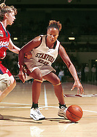 STANFORD, CA - NOVEMBER 1: Enjoli Izidor of the Stanford Cardinal during an exhibition game against the USA Team on November 1, 1999 at Maples Pavilion in Stanford, California.