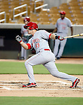 Yasmani Grandal - 2010 AZL Reds - Grandal, the Reds 1st round draft choice, is playing against the AZL Dodgers at Camelback Ranch in Glendale, AZ - 08/26/2010.Photo by:  Bill Mitchell/Four Seam Images..