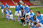 St Johnstone Training....03.09.12.The St Johnstone players having fun during the official photocall.Picture by Graeme Hart..Copyright Perthshire Picture Agency.Tel: 01738 623350  Mobile: 07990 594431