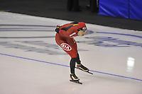 SPEEDSKATING: CALGARY: 13-11-2015, Olympic Oval, ISU World Cup, 5000m B-division, Longjiang Sun (CHN), ©foto Martin de Jong
