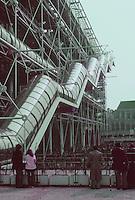 Renzo Piano and Richard Rogers: Centre Pompidou, Paris. Escalator.