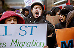 Immigrants Protest during the International Migrants Day‎ as they receive support by Occupy Wall Street members in New York, United States. 18/12/2011.  Photo by Kena Betancur / VIEWpress.