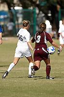 SAN ANTONIO, TX - OCTOBER 26, 2008: The Texas State University Bobcats vs. The University of Texas at San Antonio Roadrunners Women's Soccer at the UTSA Soccer Field. (Photo by Jeff Huehn)