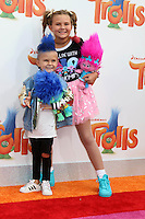 WESTWOOD, CA - OCTOBER 23: Caspian Slyfox, Jaedyn Skyfox at the premiere Of 20th Century Fox's 'Trolls' at Regency Village Theatre on October 23, 2016 in Westwood, California. Credit: David Edwards/MediaPunch
