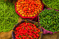 Vegetables at a street market in Choti Chaupar (circle), Jaipur, Rajasthan, India
