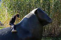 """Sculptures are seen at """"Grounds For Sculpture"""" park and museum in Central Park in Hamilton Township 08.11.2015.. Kena Betancur/VIEWpress."""