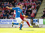 St Johnstone v Aberdeen...23.08.14  SPFL<br /> Dave Mackay goes down in the box under a challenge from Mark Reynolds<br /> Picture by Graeme Hart.<br /> Copyright Perthshire Picture Agency<br /> Tel: 01738 623350  Mobile: 07990 594431
