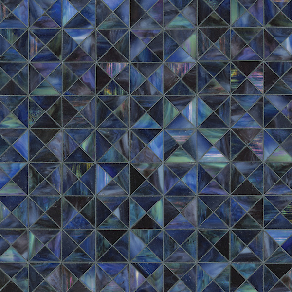 Christopher G1, a handmade mosaic shown in Amethyst jewel glass, is part of the Illusions™ Collection by Sara Baldwin Designs for New Ravenna.