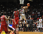 "Mississippi's Murphy Holloway (31) vs. Rutgers' Wally Judge (33) at the C.M. ""Tad"" Smith Coliseum in Oxford, Miss. on Saturday, December 1, 2012. Mississippi won 80-67. (AP Photo/Oxford Eagle, Bruce Newman).."
