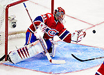 14 December 2009: Montreal Canadiens' goaltender Jaroslav Halak makes a second period save against the Buffalo Sabres at the Bell Centre in Montreal, Quebec, Canada. The Sabres defeated the Canadiens 4-3. Mandatory Credit: Ed Wolfstein Photo