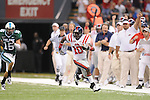 Ole Miss wide receiver Jesse Grandy (10) returns the opening kick-off 51 yards vs. Tulane at the Louisiana Superdome in New Orleans, La. on Saturday, September 11, 2010. Ole Miss won 27-13.