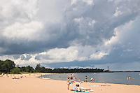 McCarty Cove beach on Lake Superior in Marquette Michigan.