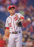 20 September 2013: Washington Nationals third baseman Ryan Zimmerman warms up prior to a game against the Miami Marlins at Nationals Park in Washington, DC. The Nationals shut out the Marlins 8-0 to take the second game of their 4-game series. Mandatory Credit: Ed Wolfstein Photo *** RAW (NEF) Image File Available ***
