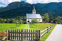 Kirchgemeinde church for the Evangelist Reformist community of Klosters - Serneus in Graubunden region, Switzerland