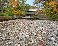 Sunday River covered bridge in Maine