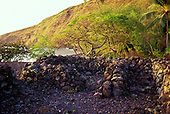 Hawaiian Hikiau or temple site at Kealakekua bay, Big Island
