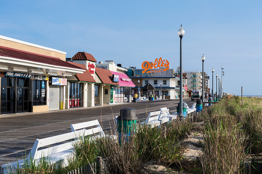 Bethany beach boardwalk, Delaware, Usa