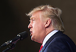 ST. AUGUSTINE, FL - OCTOBER 24:   Republican presidential candidate Donald Trump speaks during a rally at the St. Augustine Amphitheater on October 24, 2016 in St. Augustine, Florida.  With just over two weeks to go until the election, early voting has started in Florida. (Photo by Mark Wallheiser/Getty Images)