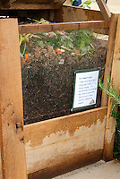 Hwo to Make Compost sign on heap