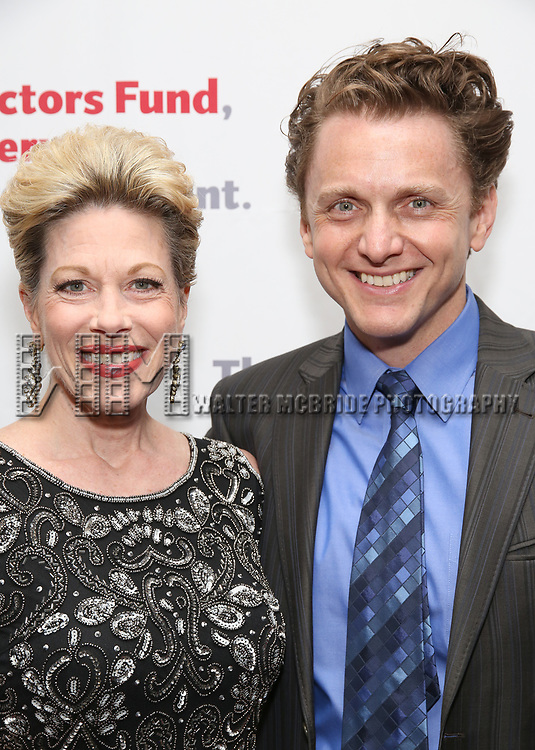 Marin Mazzie and Jason Danieley attends The Actors Fund Annual Gala at the Marriott Marquis on 5/8//2017 in New York City.